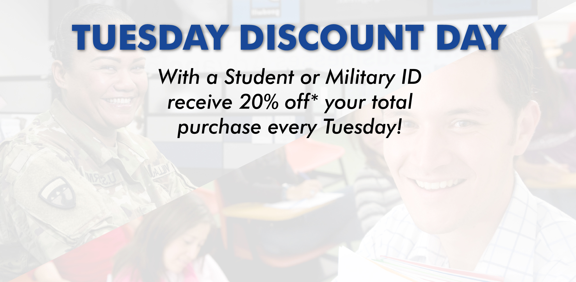 Tuesday Discount Day