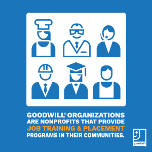 Goodwill provides job training and placement programs in your communities